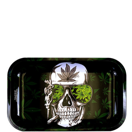 Blaze To The Grave Metal Rolling Tray (10.8? x 6.8?)