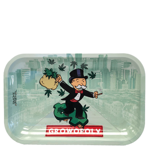Growopoly 'Monopoly Man' Metal Rolling Tray (10.8? x 6.8?)
