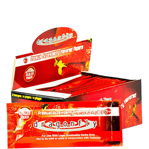 Dragonfly Rolling Papers - 12 Booklet Pack - Strawberry