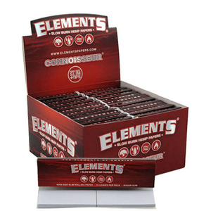 Elements Hemp KS Slim Rolling Papers and Tips - 25 Pack Box