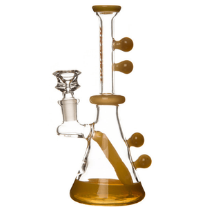 Mustard Arsenal Marble Décor Glass Bong