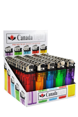 Canada clear Lighters - 50 pcs Display Case