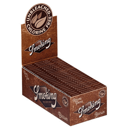 Smoking Brown Double Window Rolling Papers - 25 Pack Box