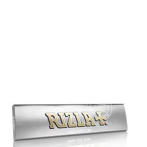 Rizla+ King Size Slim Silver Rolling Papers - 50 Pack Box