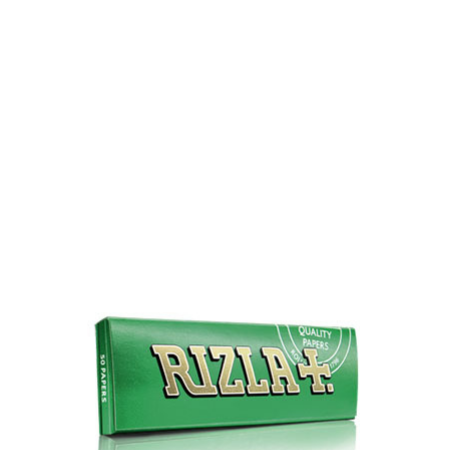 Rizla+ Single Wide Green Rolling Papers - 100 Pack Box