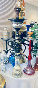 sadaf black hookah with ice chamber