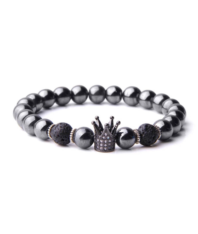 Black Crown - Natural and Glossy Stones