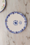 Set Of Ceramic Dinner Plate  - Mix Flower Design