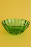 Vintage Glass Salad Bowl