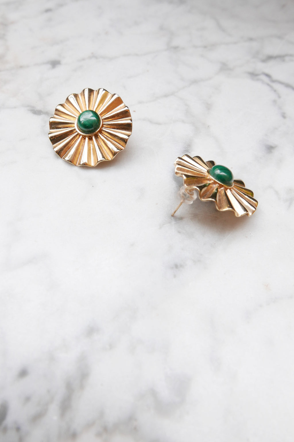 Malachite Marguerite Earrings