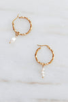 PALAS Asymmetrical Twisted Hoop Earrings
