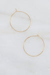 Ultra Thin Hoop Earrings