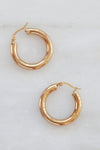 PALAS Wide Small Hoops Earrings