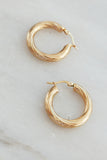 PALAS Golden Striped Hoops