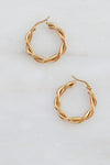 Twisted Double Large Hoop Earrings