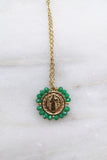 Santo Necklace - Emerald Green