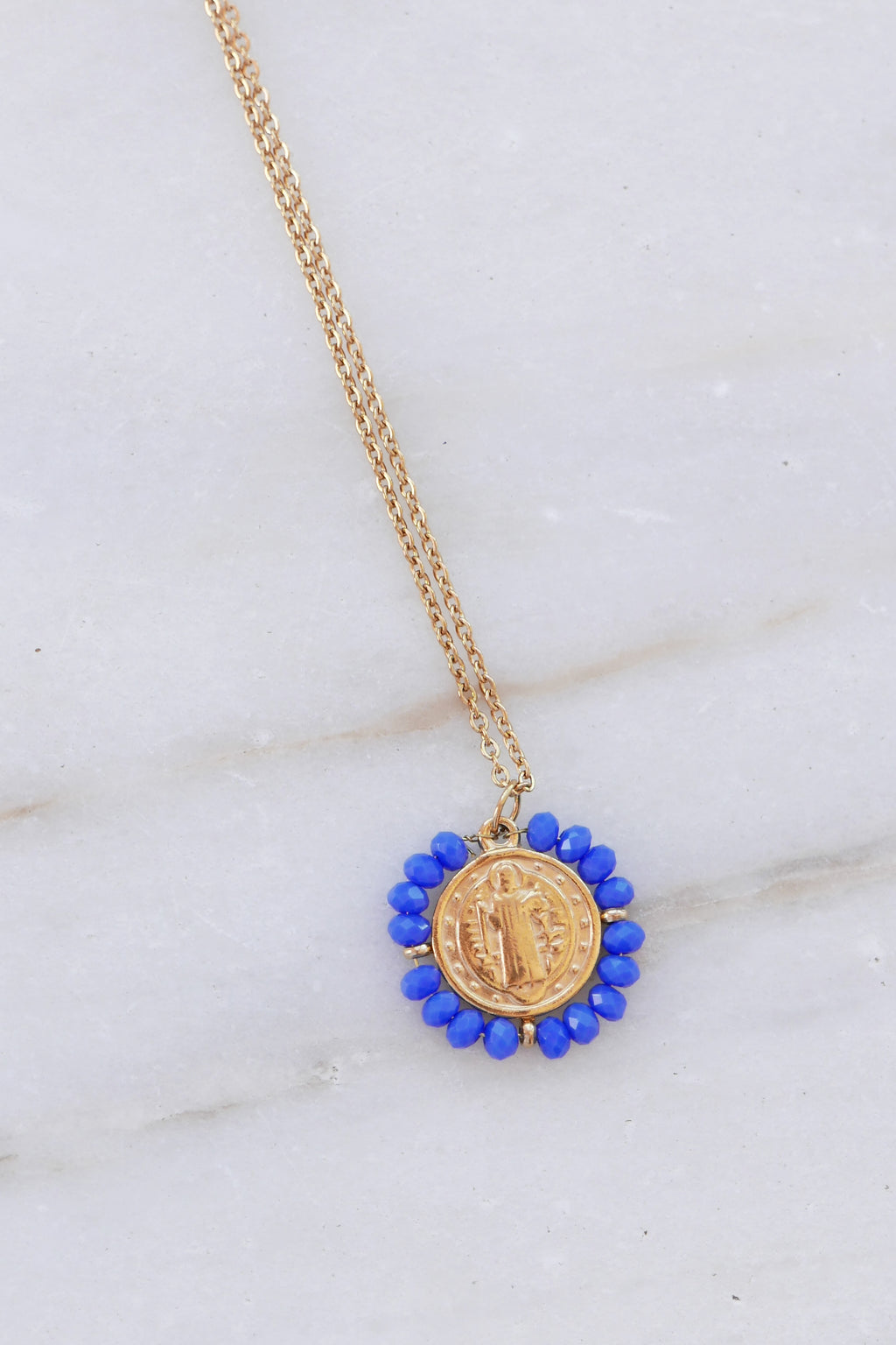 Madonna Necklace - Blue
