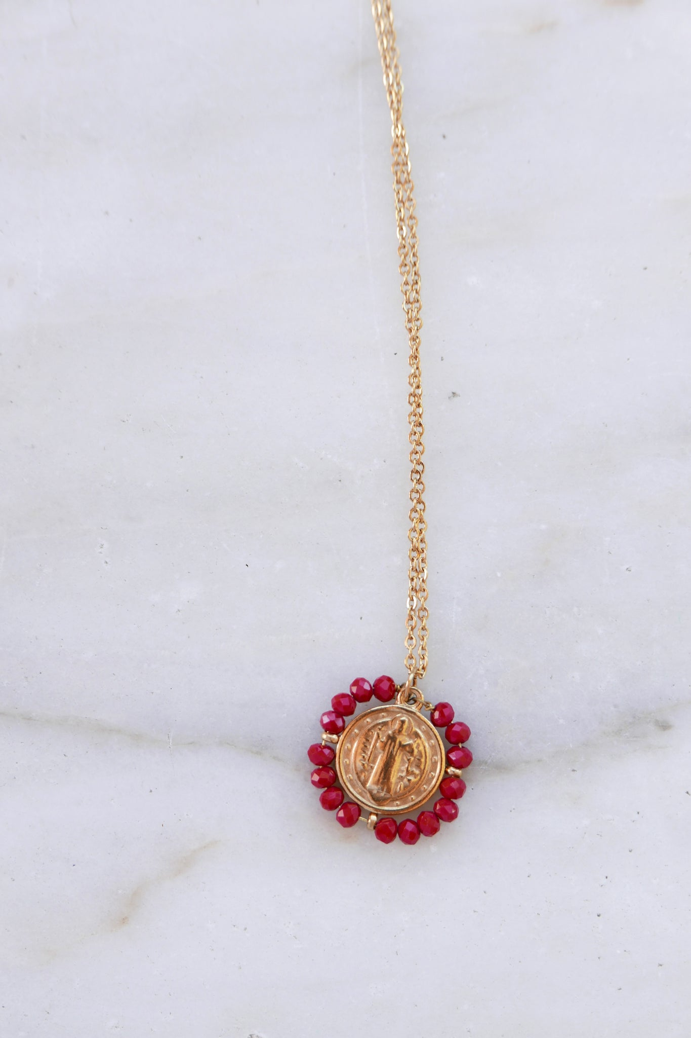 Madonna Necklace - Red
