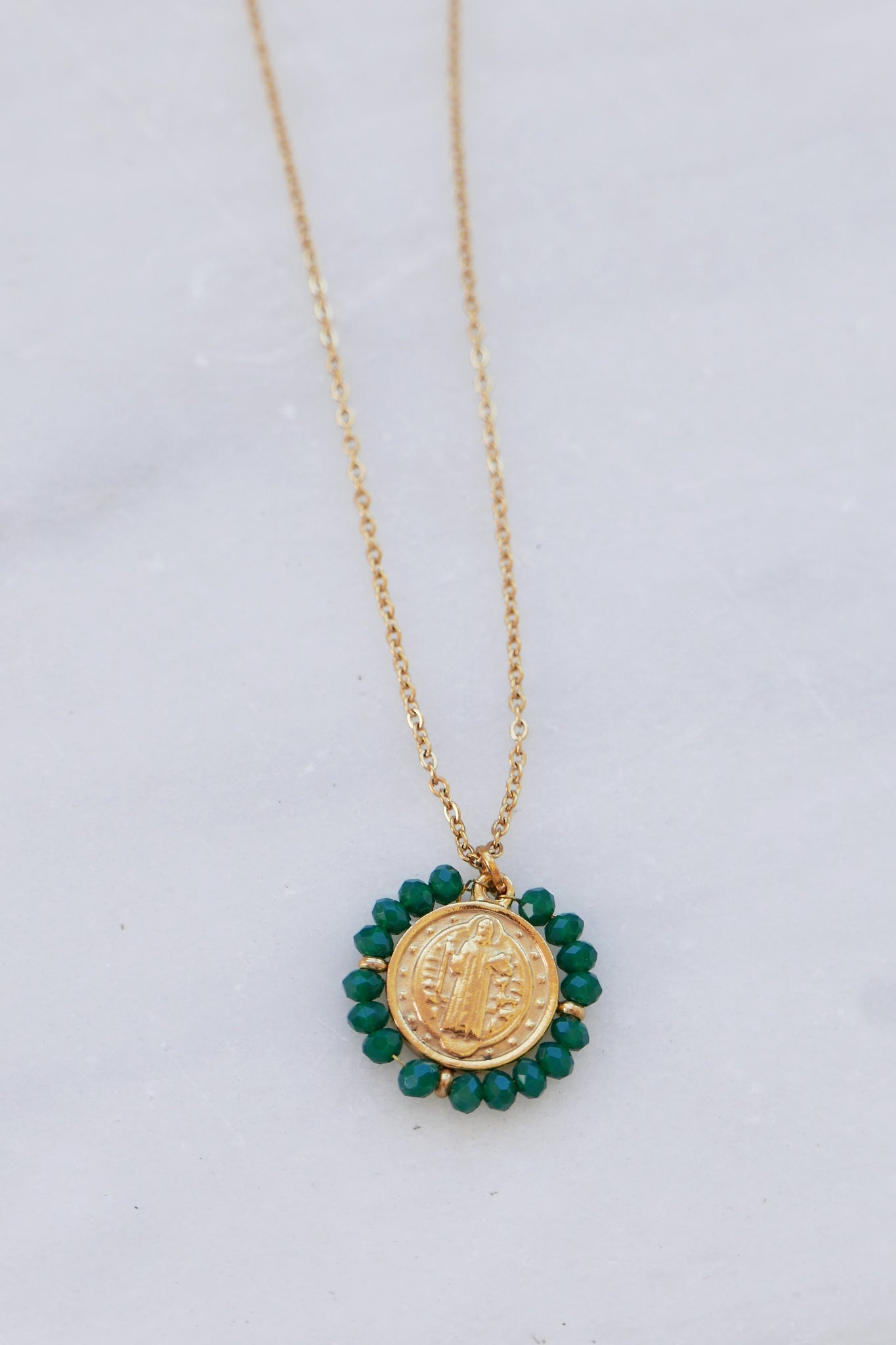 Santo Necklace - Dark Green