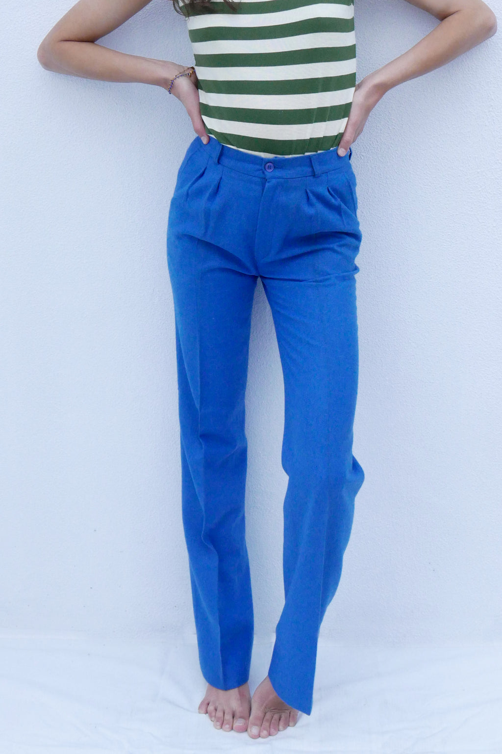 Vintage Trousers - Blue & Whool
