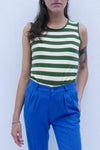 PALAS' Vintage Thick Retro Stripe Top