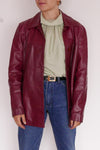 Vintage Jacket - Bordeaux Leather & Straight