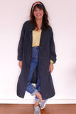 Vintage Raincoat - Navy blue