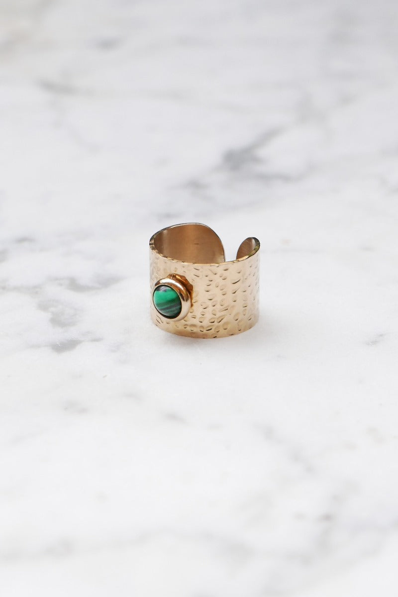 Malachite Gold Ring