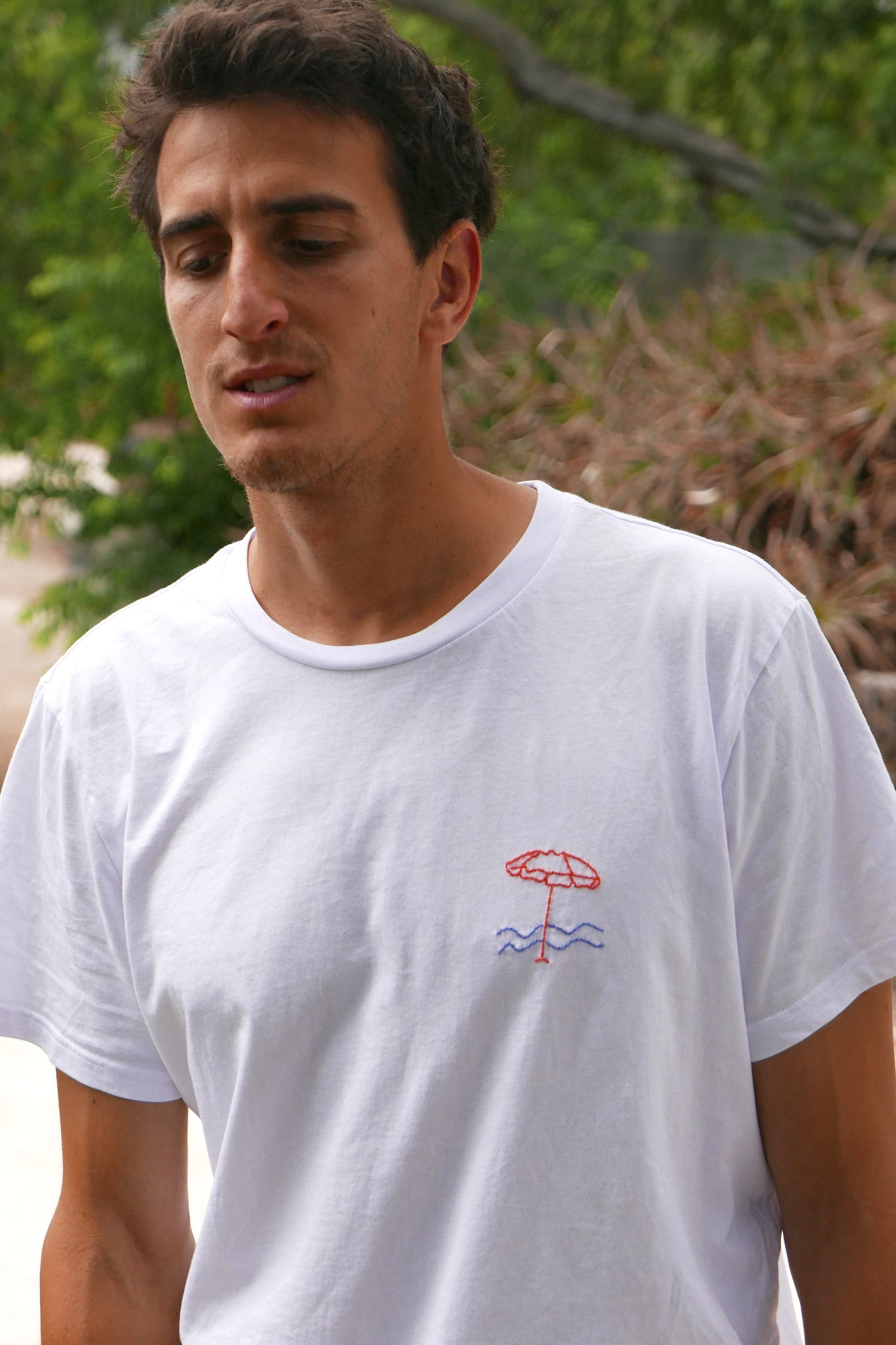 Embroidered t-shirt - Umbrella
