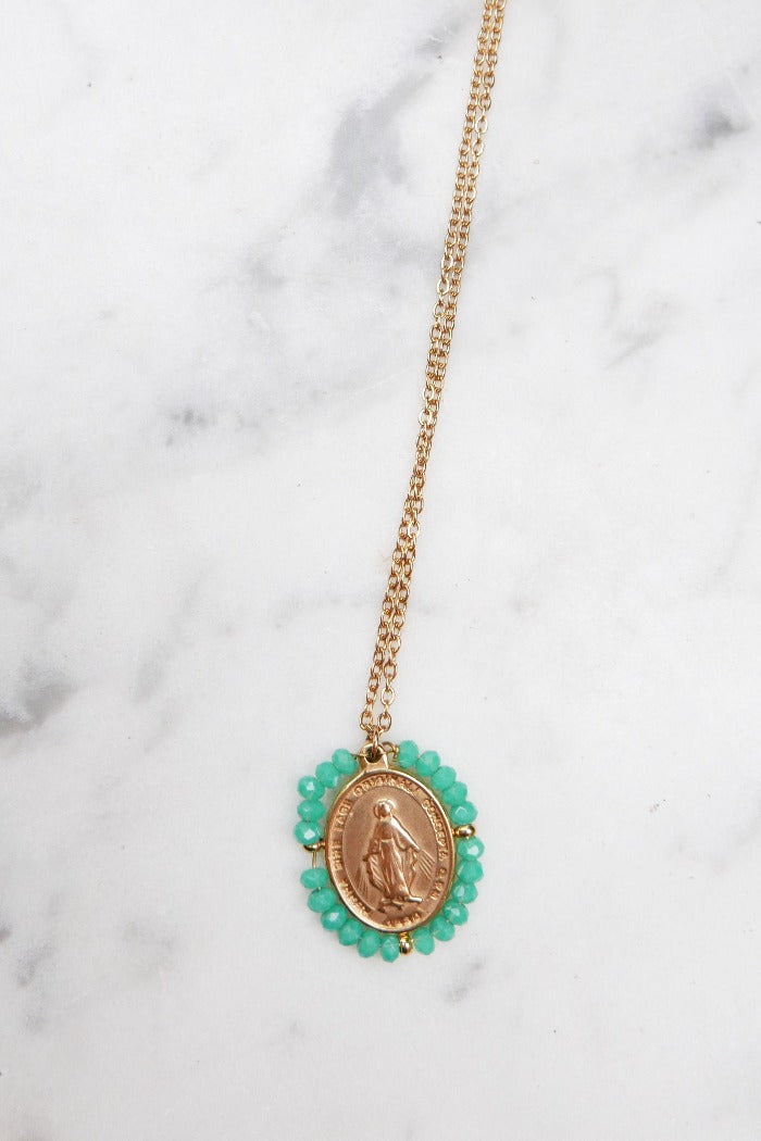 Santa Maria Necklace - Blue Green