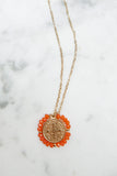 Santo Necklace - Coral
