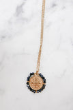 Santo Necklace - Shiny Black