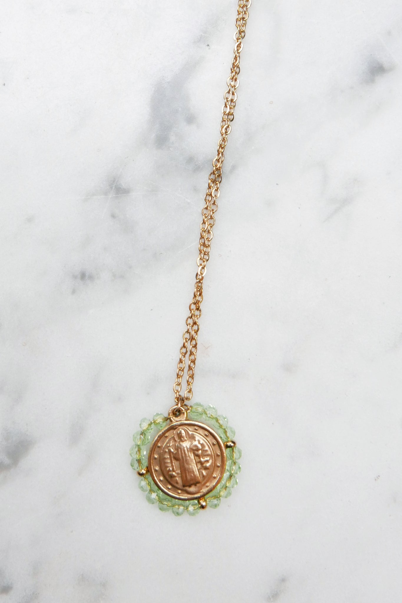 Santo Necklace - Transparent Water Green
