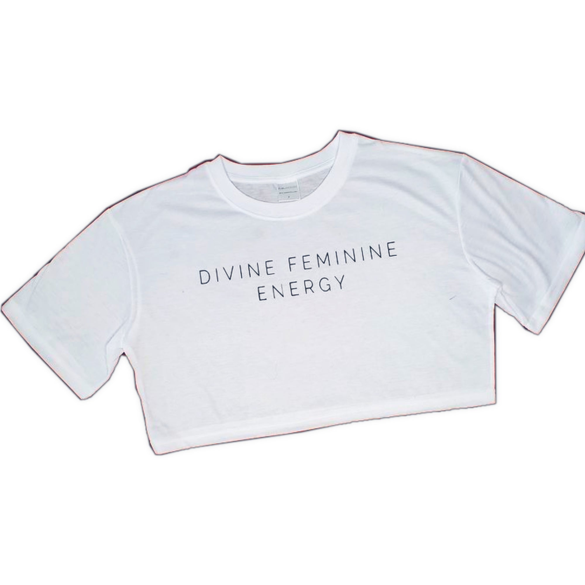 DIVINE FEMININE ENERGY- Crop top white