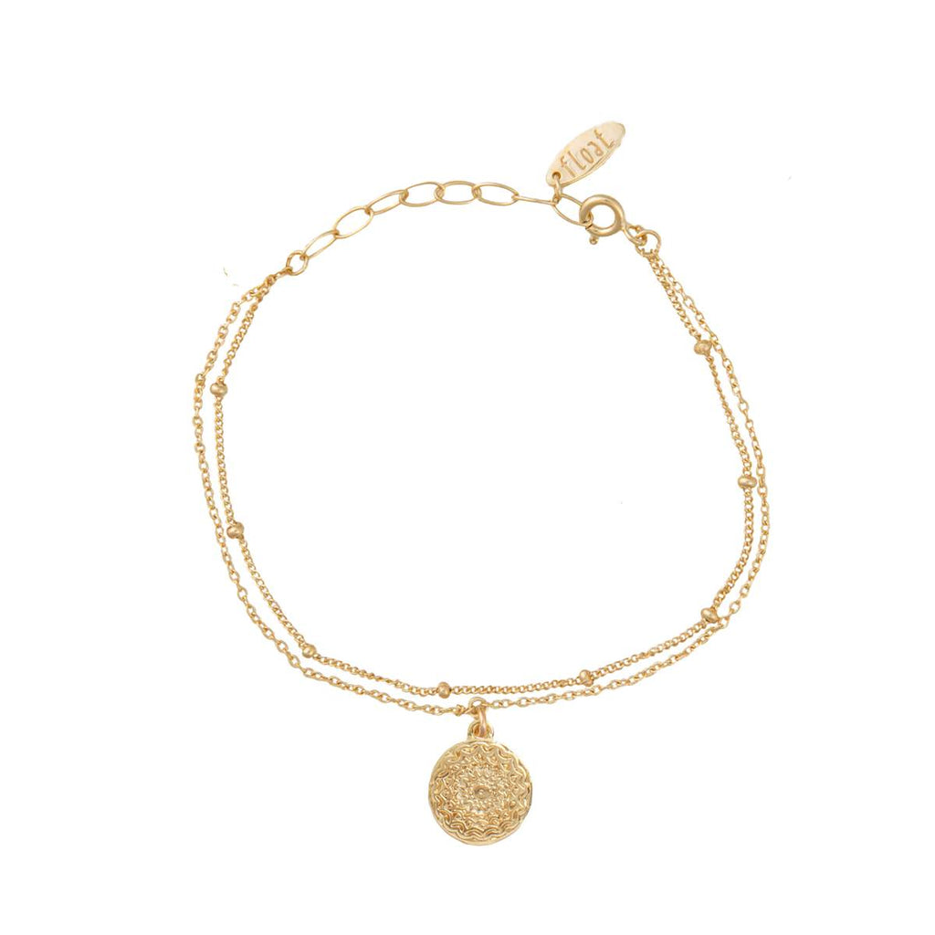 float Mandala Armband Gold