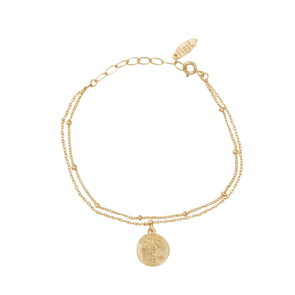 float Palmtree Armband Gold