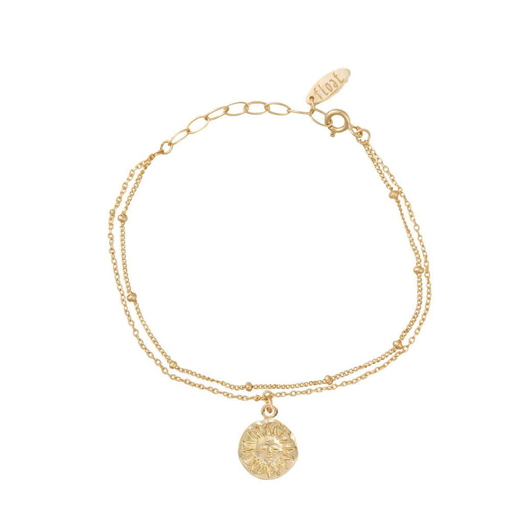 float Sonne Armband Gold