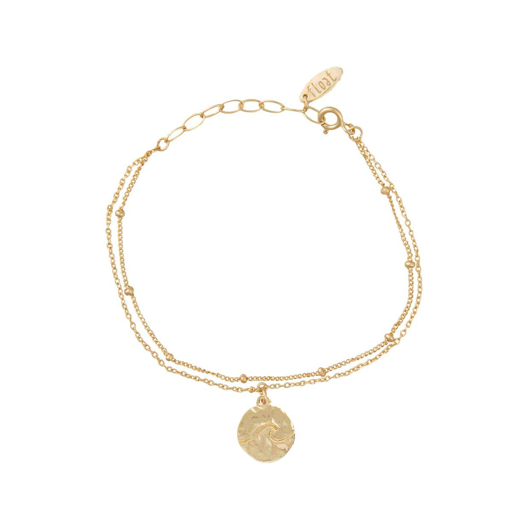float Welle Armband Gold