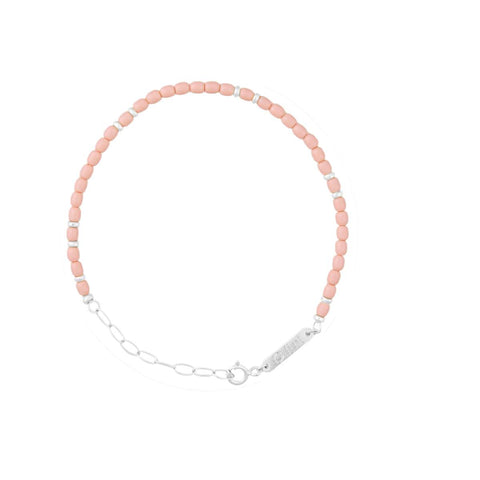 float Rainbow Armband Silber - Rose