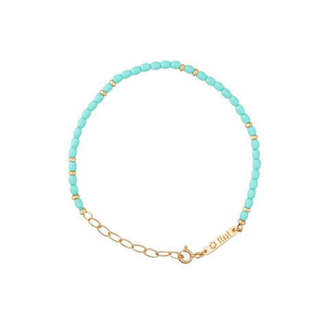 float Rainbow Armband Gold