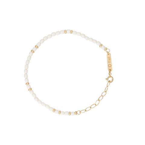 float Rainbow Armband Gold - Weiss