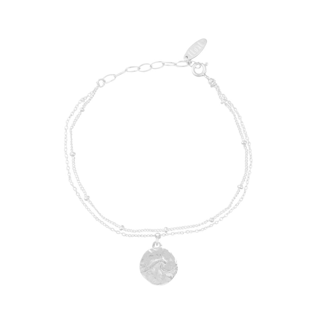 float Welle Armband Silber