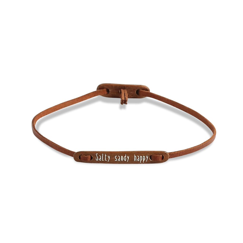 float Message Armband Salty Sandy Happy