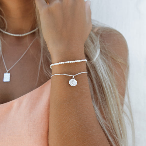 float Mond Armband Silber