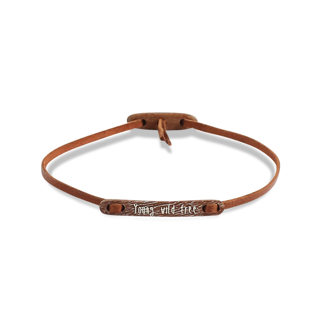 float Message Armband Young Wild & Free