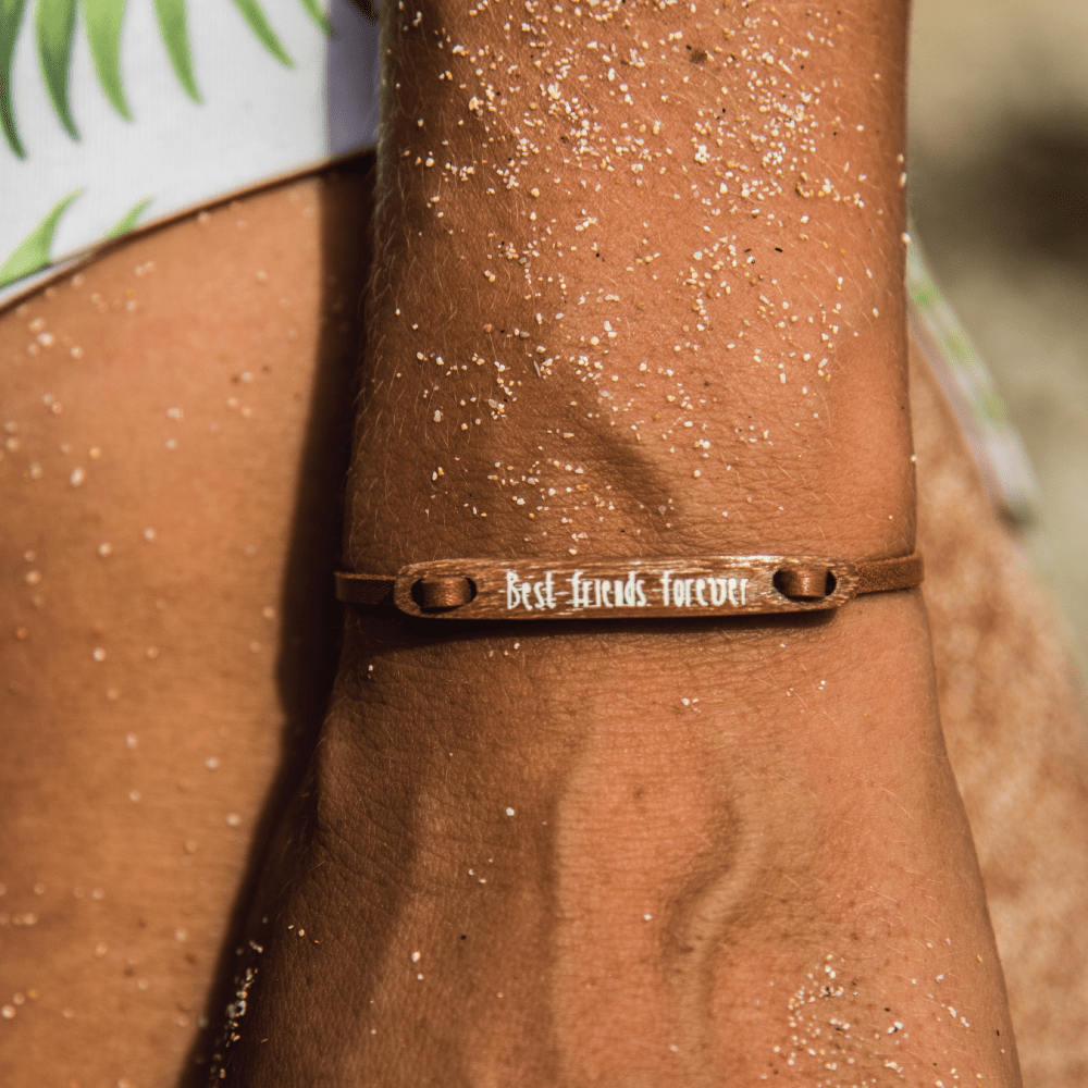 float Message Armband Best Friends Forever