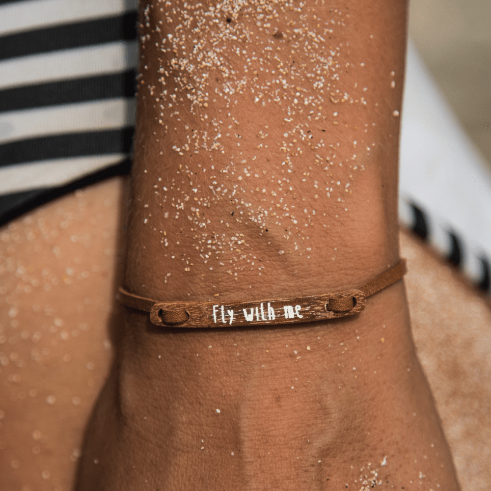 float Message Armband Fly With Me