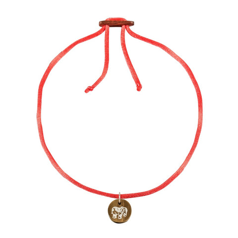 float Choker Halskette Elephant