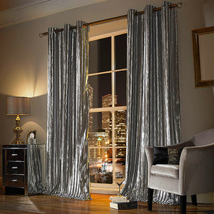 Iliana Silver Curtains