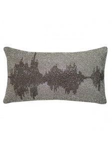 Soundwave Filled Cushion 18cm x 32cm